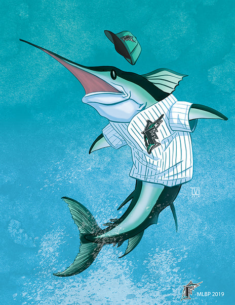 "Tom Valente ""Marlins"" Print"