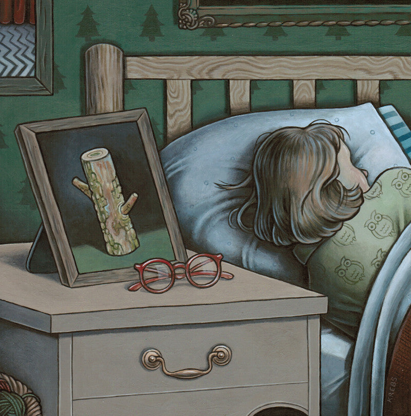 "Tara Krebs ""Good Night Sweet Log"" Print"