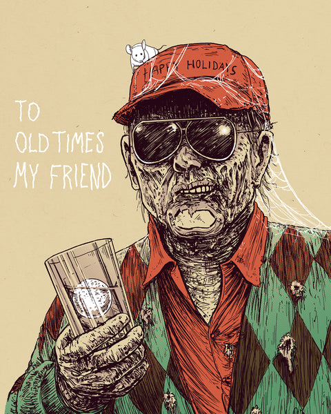 "Barry Blankenship ""To Old Times, My Friend"" Print"
