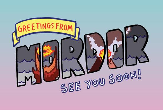 "Toddbot (Todd Webb) ""Greetings from Mordor"" Postcard Print"