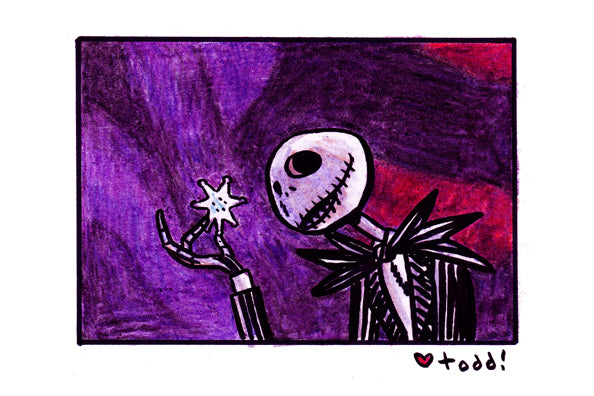 "Toddbot ""Jack Skellington with snowflake"" Framed Print"