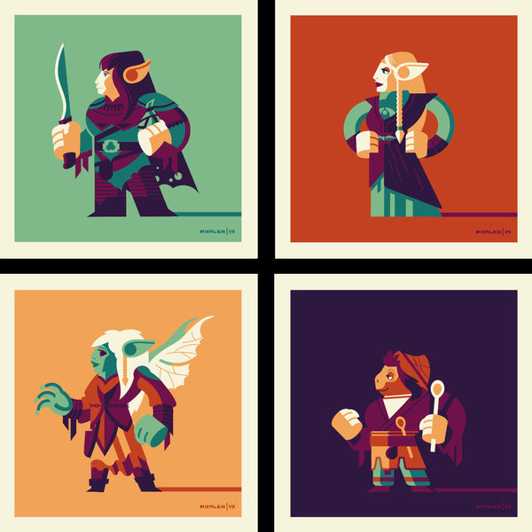 "Tom Whalen ""Heroes of Thra"" Print Set"