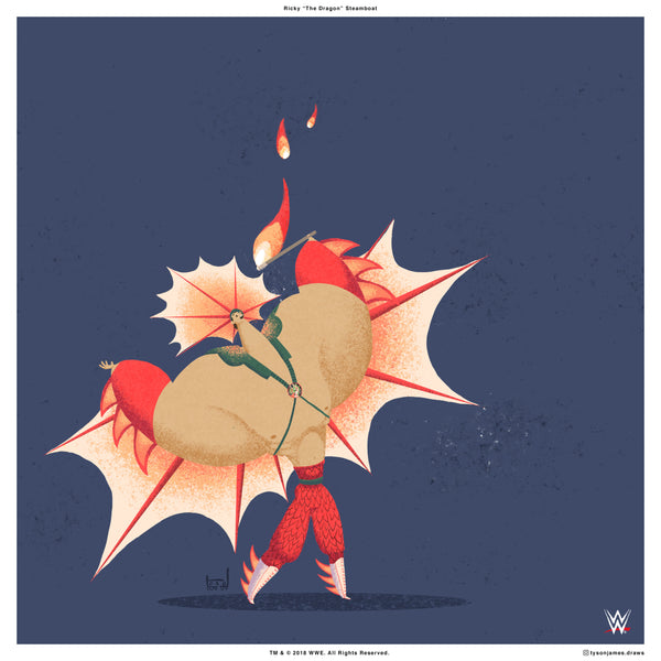 "Tyson James ""Ricky 'The Dragon' Steamboat"" Print"