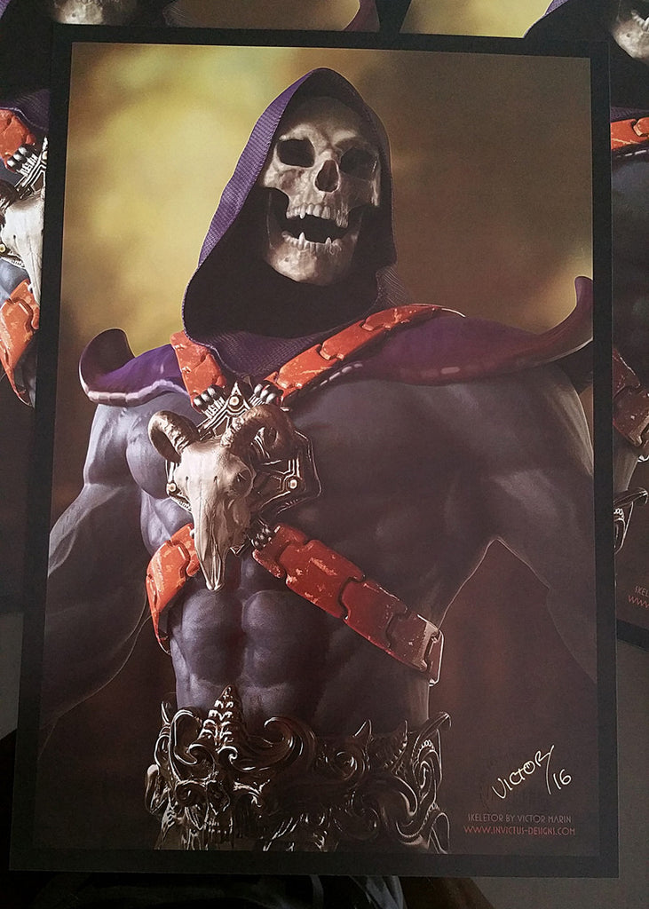 "VICTOR MARIN ""SKELETOR (SMALL)"" Print"