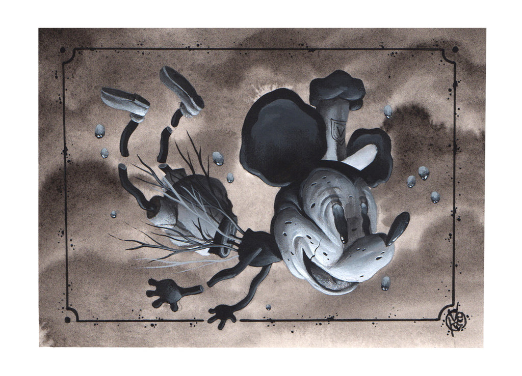"Veks Van Hillik ""Floating Mickey Mouse"" Print"