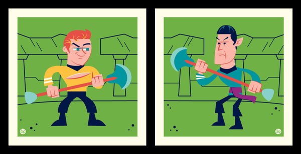 "Dave Perillo ""William Vs Leonard"" Print Set"