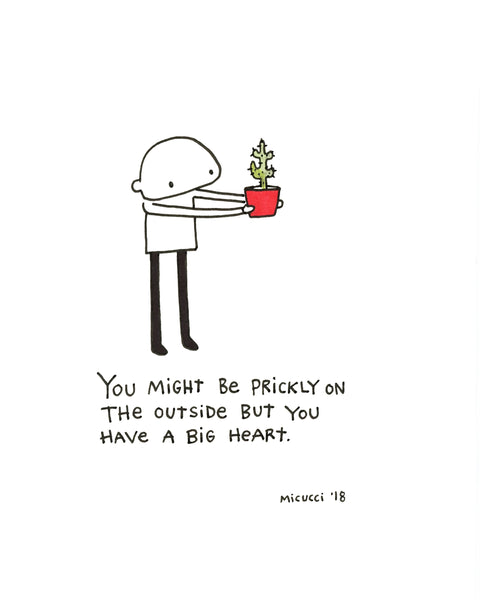 "Kate Micucci ""You Might Be Prickly"" Print"