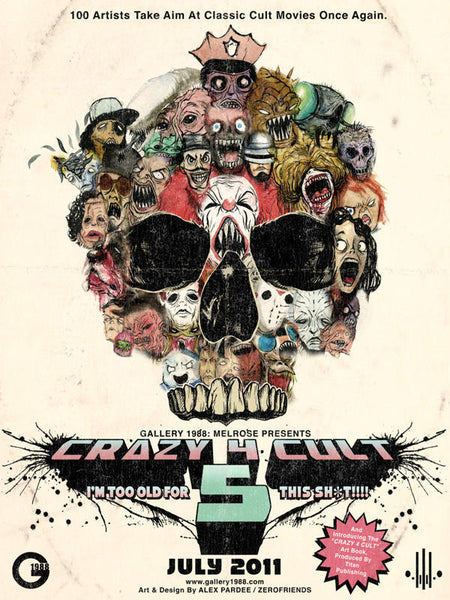 ".Alex Pardee ""Crazy 4 Cult 5"" Poster"
