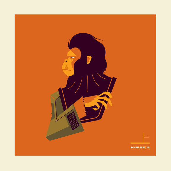 "Tom Whalen ""ape'd scientist"" Print"