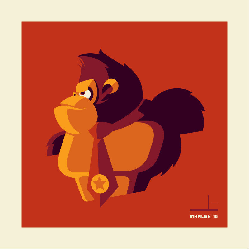 "Tom Whalen ""barrel'd"" Print"