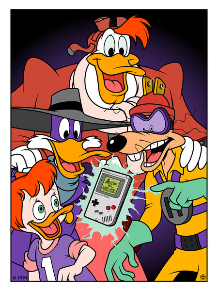 "Matthew Skiff ""Darkwing Duck and Megavolt"" Print"