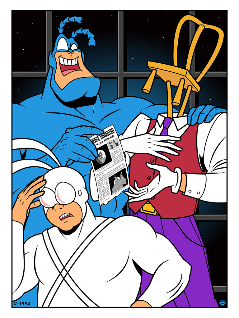 "Matthew Skiff ""The Tick and Chairface Chippendale"" Print"