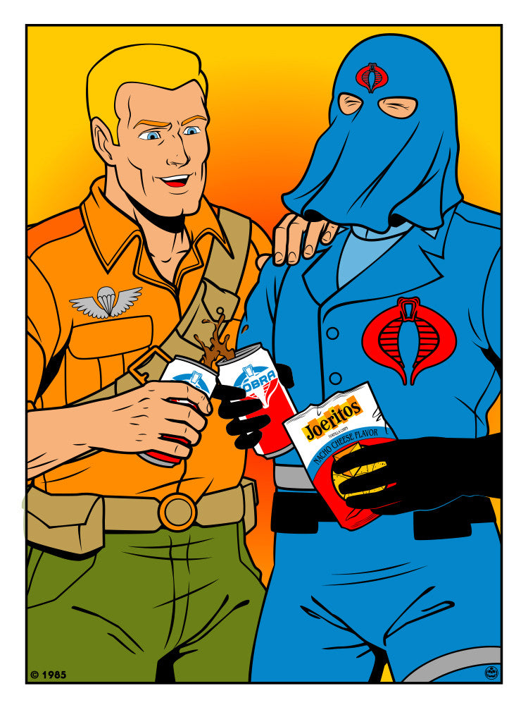 "Matthew Skiff ""Duke and Cobra Commander"" Print"