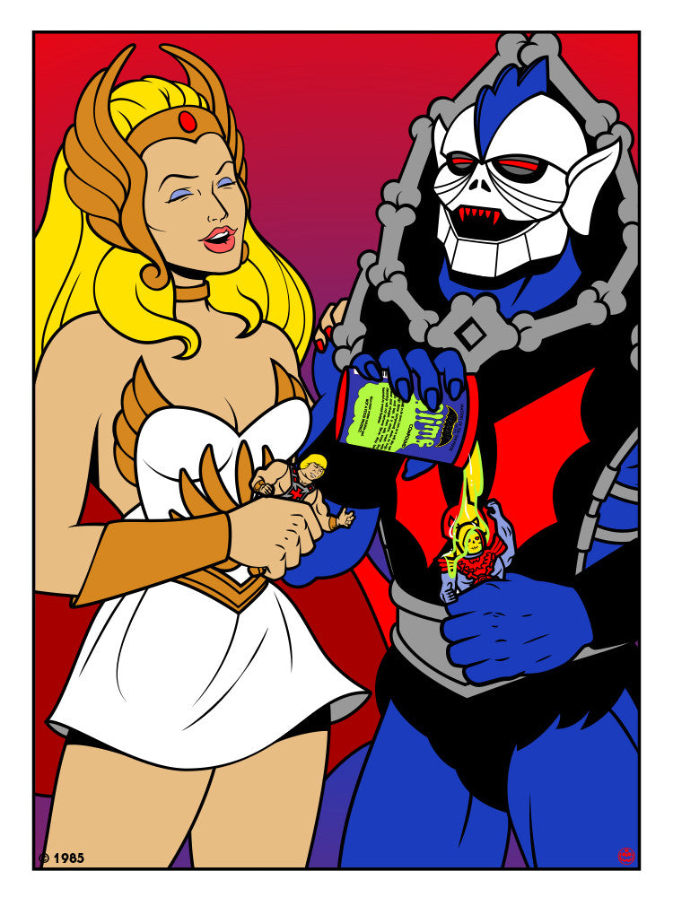 "Matthew Skiff ""She-Ra and Hordak"" Print"