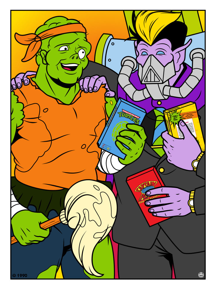 "Matthew Skiff ""Toxie and Dr. Killemoff"" Print"