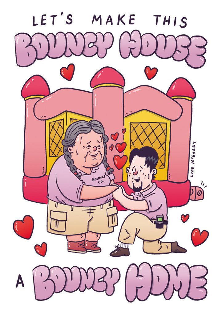 "Luke McGarry ""Bouncy Home"" Valentine's Day Card"