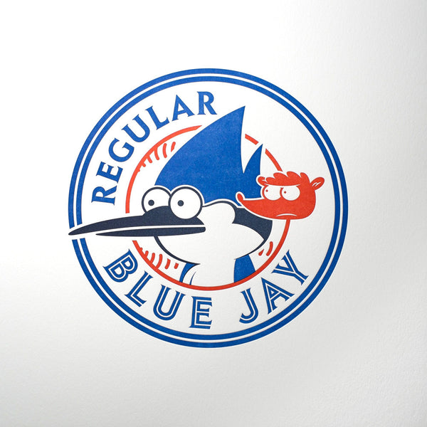 "Bruce Yan ""Regular Blue Jay"" Print"