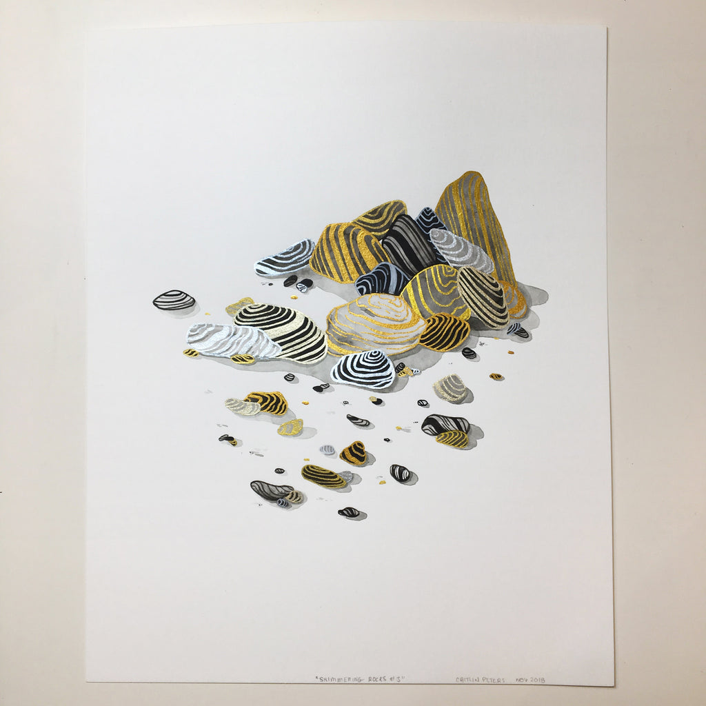 "Caitlin Peters ""Shimmering Rocks #3"""