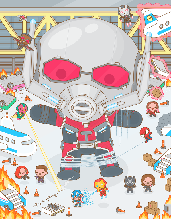 "100% Soft ""Captain America: Civil War"" Print"