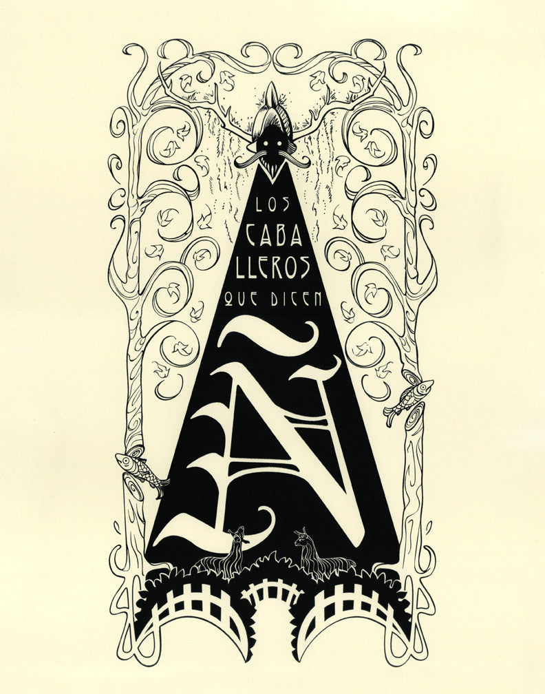 "castlepop ""The Knights Who Say Ni (en Espanol)"" Print"
