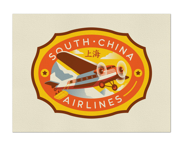 "Clark Orr ""South China Airlines"" Print"