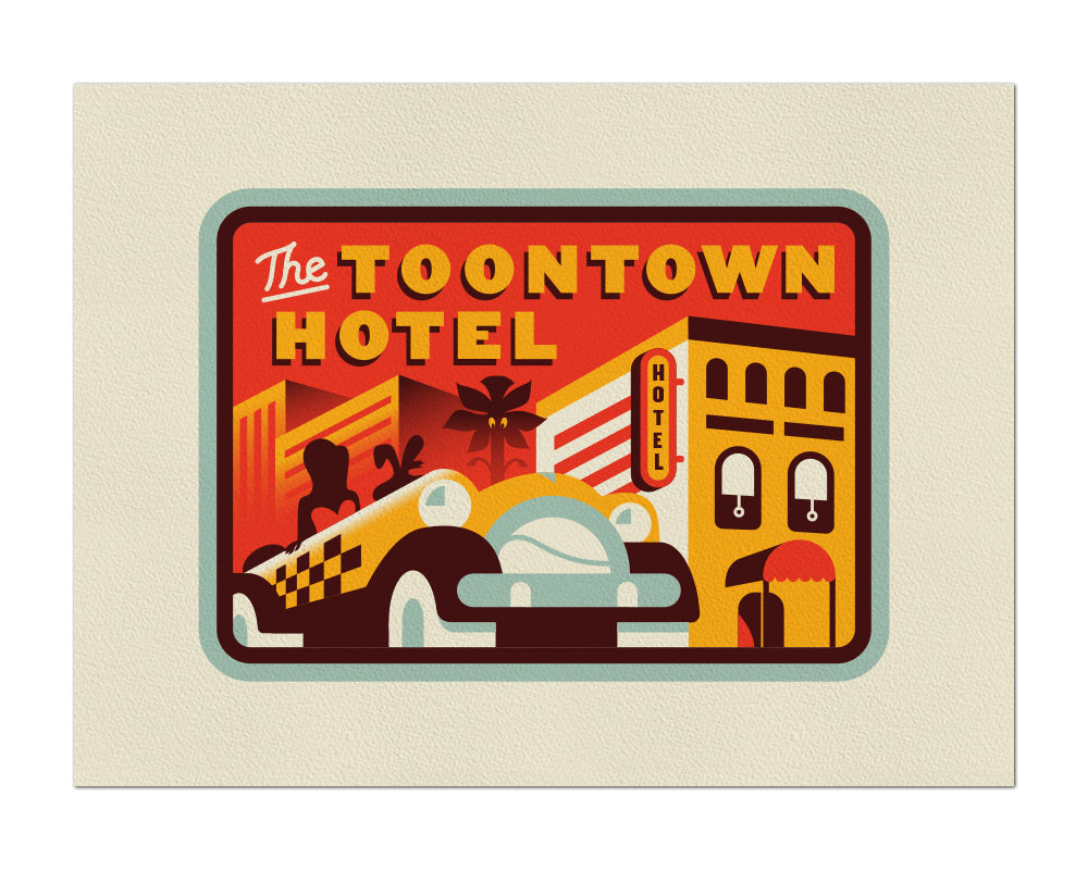 "Clark Orr ""The Toontown Hotel"" Print"