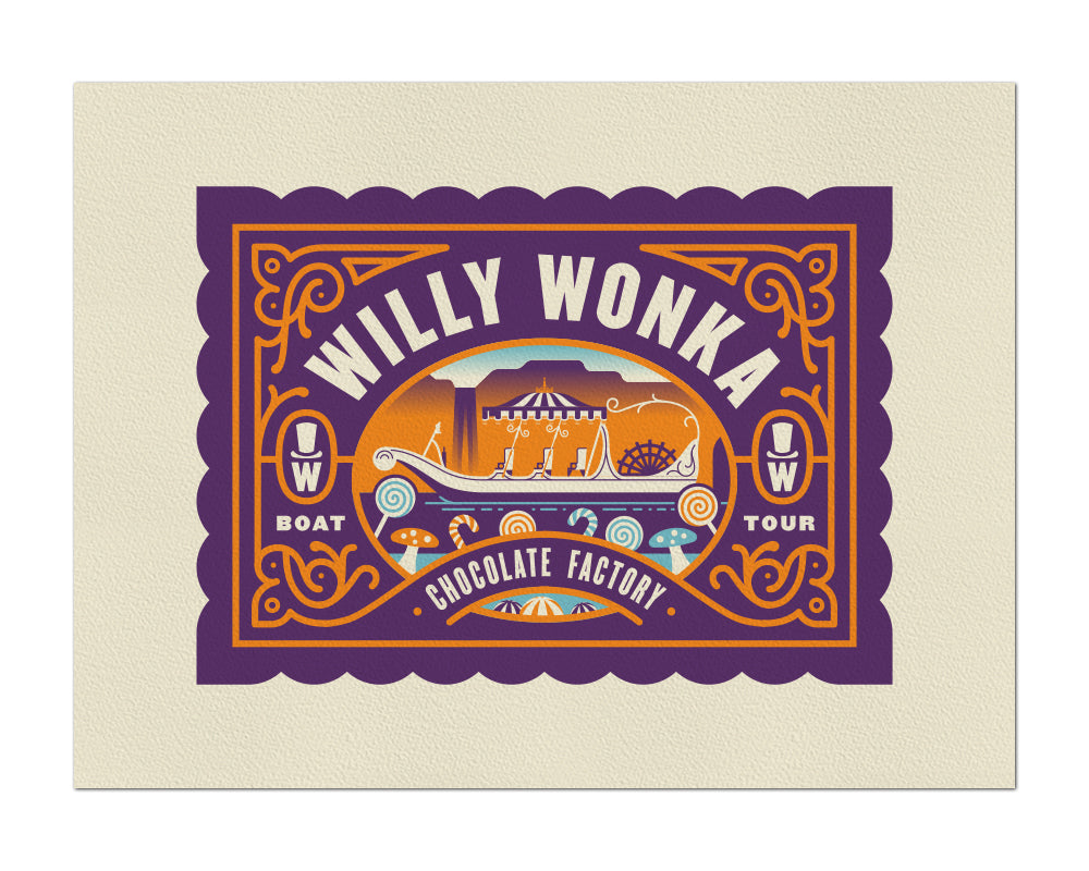 "Clark Orr ""Willy Wonka's Boat Tour"" Print"