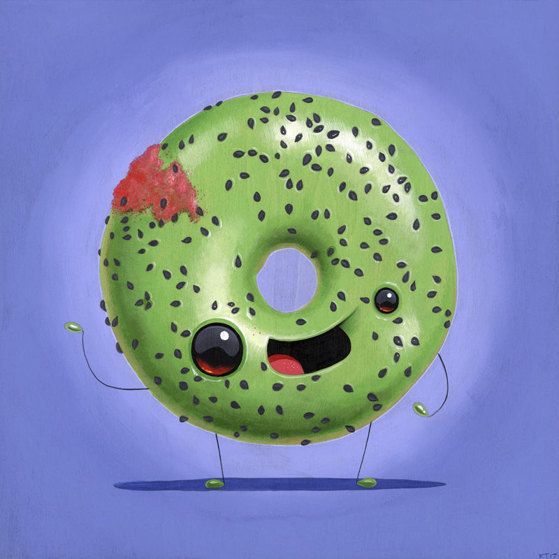 "Cuddly Rigor Mortis ""Donut Friend's Green Teagan & Sara"""