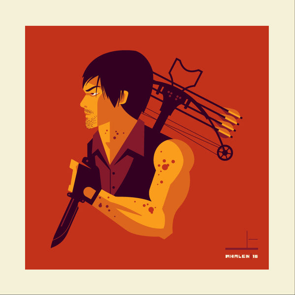 "Tom Whalen ""crossbow'd"" Print"