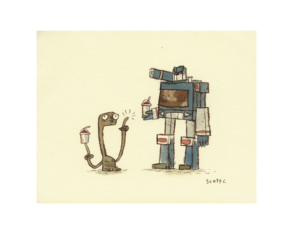 "Scott C. ""Friends With ET: Soundwaving"" Print"