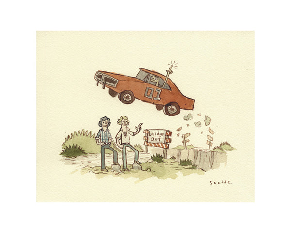 "Scott C. ""Friends With ET: Jumping"" Print"