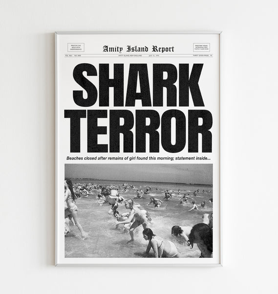 "Guts for Garters ""Shark Terror"" Print"