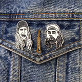 "Miranda Dressler ""Jay and Silent Bob"" Enamel Pin Set"