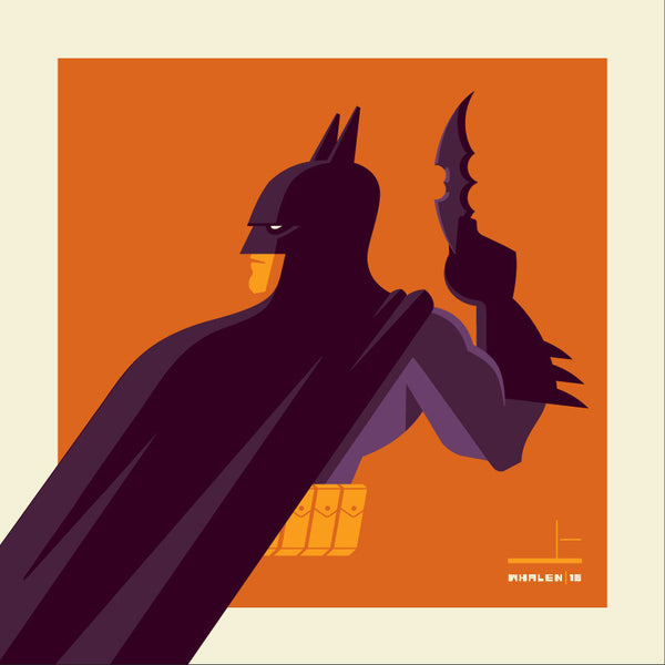 "Tom Whalen ""knight'd (purple)"" Print"
