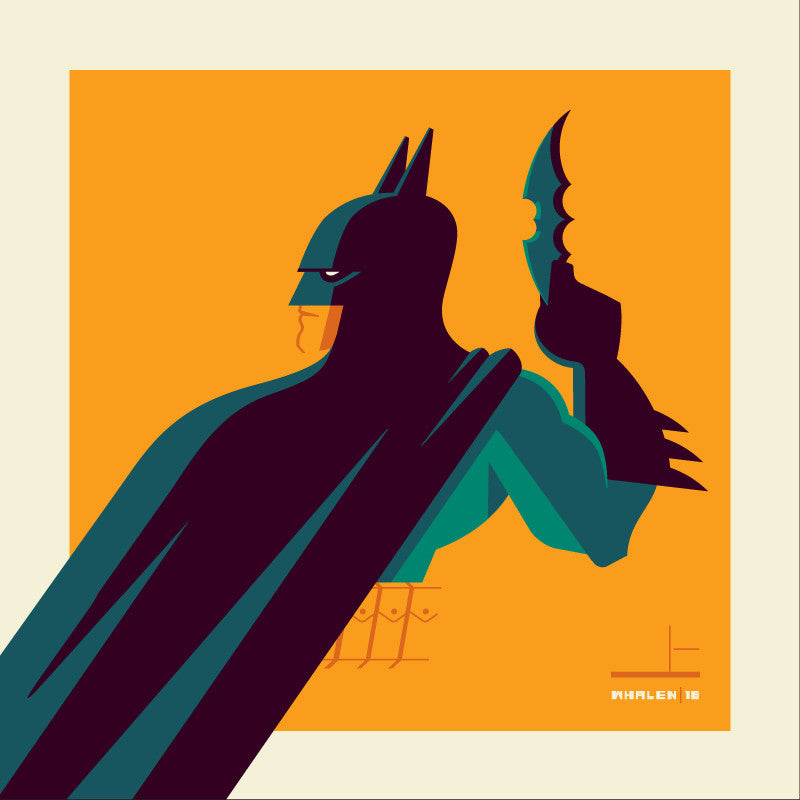"Tom Whalen ""knight'd (teal)"" Print"