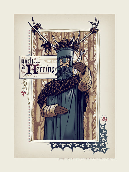"Clinton Reno ""Knights Who 'Til Recently Said Ni"" Print"