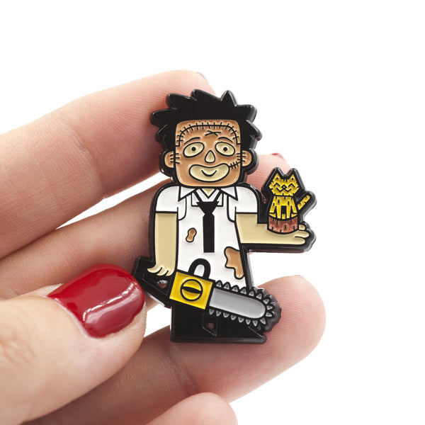 "Little Shop of Pins ""Leatherface"" Pin"