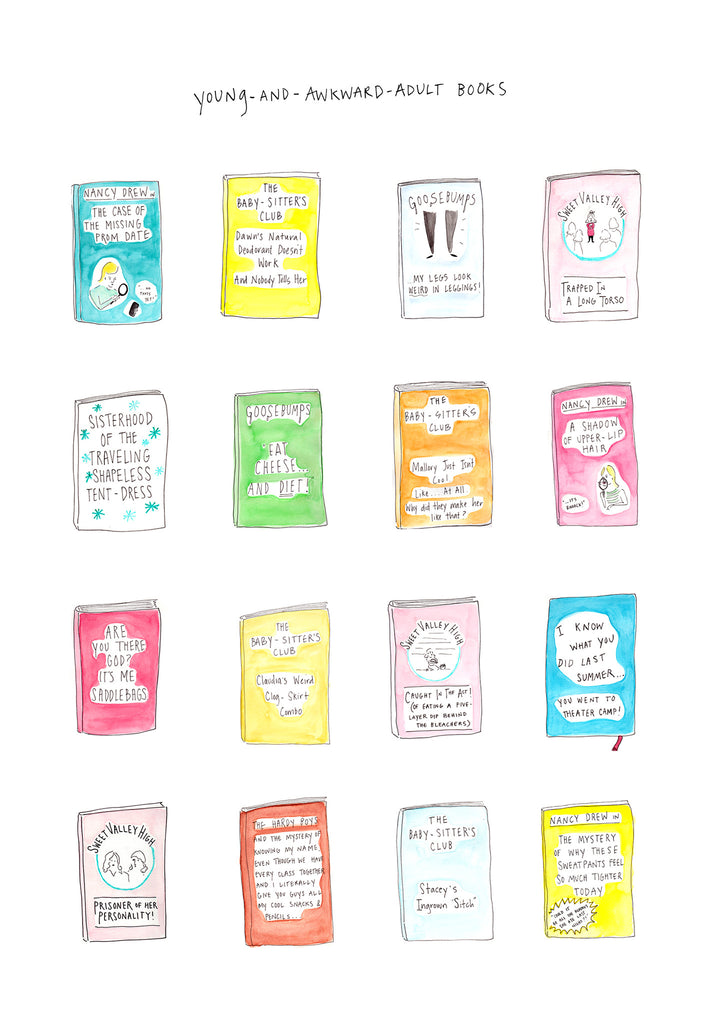 "Maggie Mull ""Young-And-Awkward-Adult Books"" Print"
