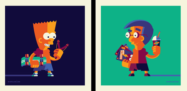 "Tom Whalen ""Not Only Am I Not Learning, I'm Forgetting Stuff I Used To Know!"" Print Set"