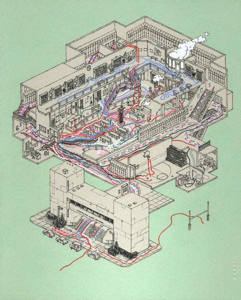 "Andrew DeGraff ""Paths of the Club"" Print"