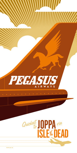 "Tom Whalen ""Pegasus Airways"" Print"