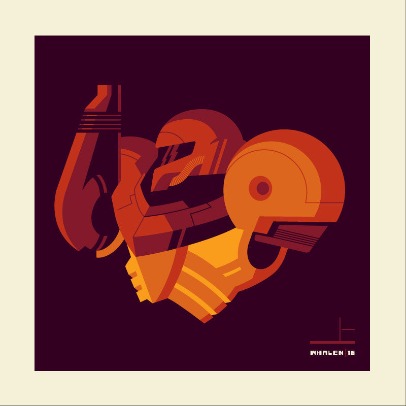 "Tom Whalen ""powersuit'd"" Print"