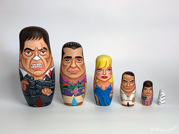 "Andy Stattmiller ""Scarface Nesting Dolls"""