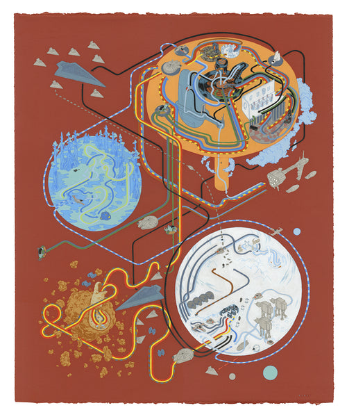 "Andrew DeGraff ""Paths of Empire (Variant)"" Print"