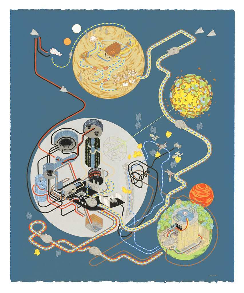 "Andrew DeGraff ""Paths of Hope (Variant)"" Print"