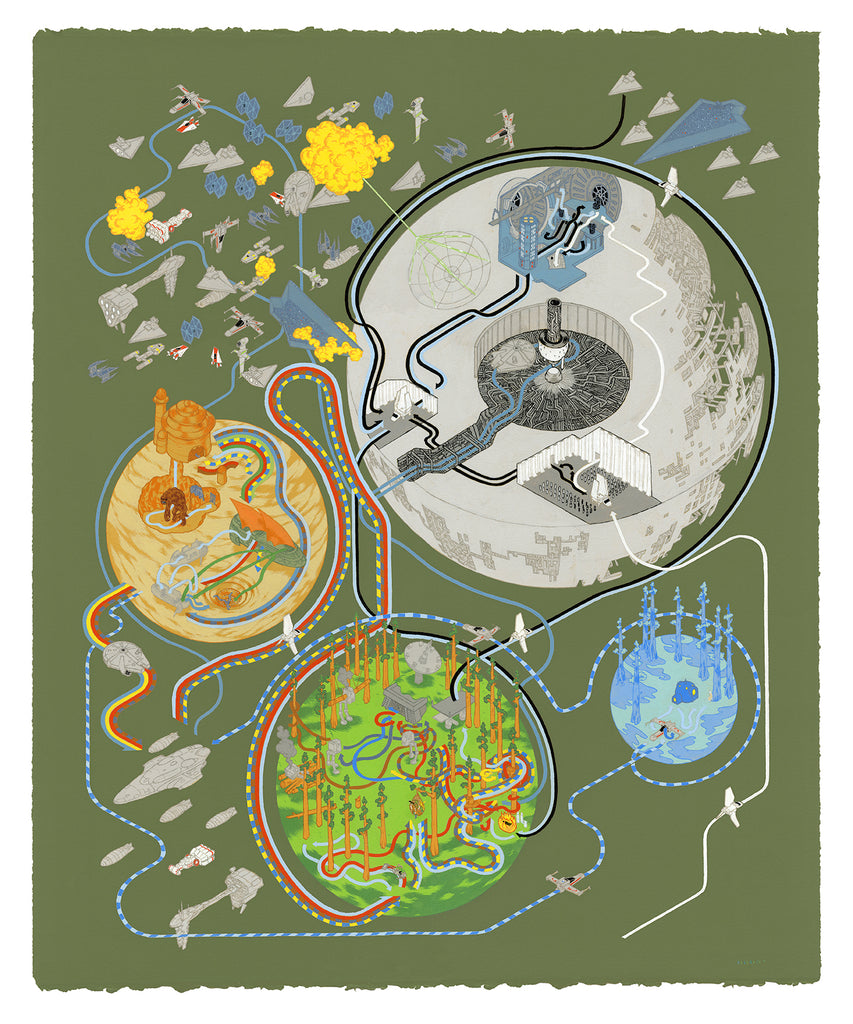 "Andrew DeGraff ""Paths of Return (Variant)"" Print"