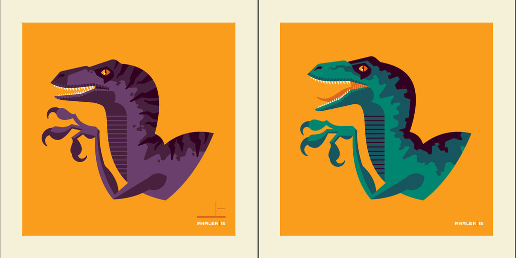 "Tom Whalen ""tame'd"" Print Set"