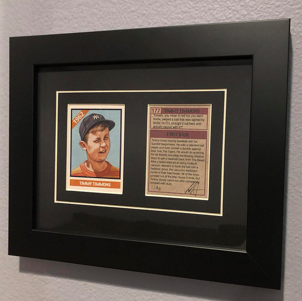 "Cuyler Smith ""177 - Timmy Timmons"" Framed Trading Card Set"