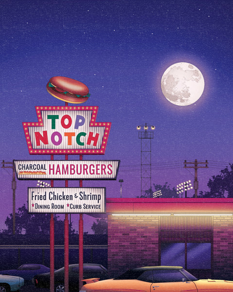 "Zita Walker ""Top Notch Burgers"" Print"