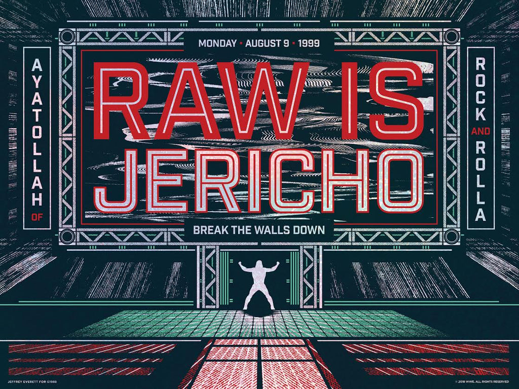 "Jeffrey Everett / Rockets Are Red ""Jericho Is Raw"" Print"